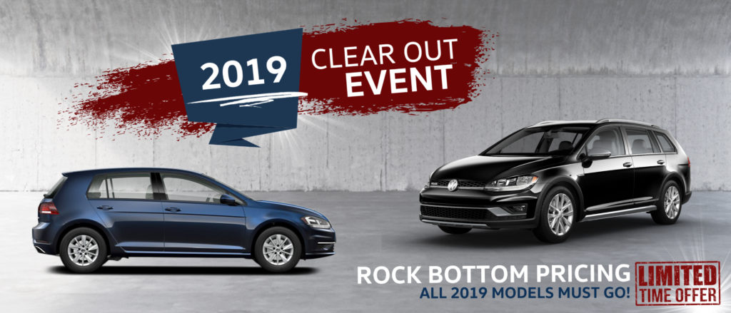 Volkswagen 2019 Golf Clear Out event sale hunt club vw ottawa