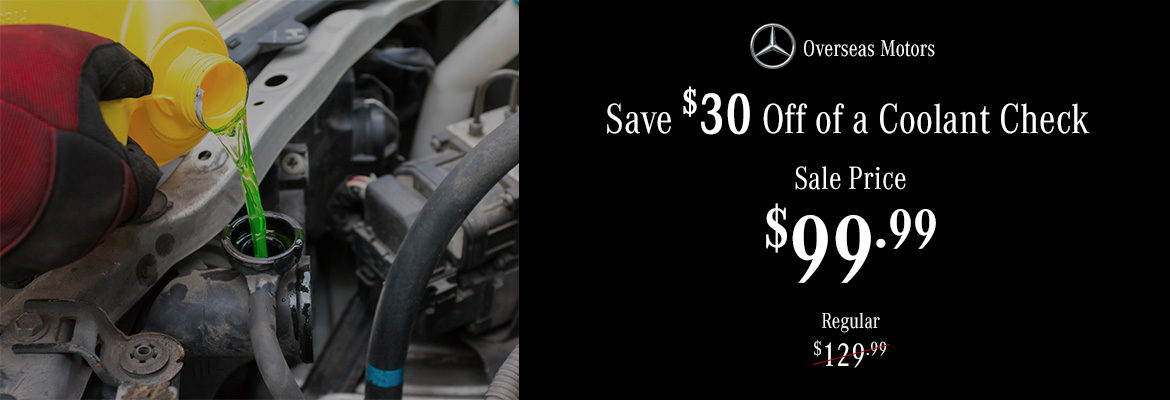 Save $30 Off of a Coolant Check Coupon