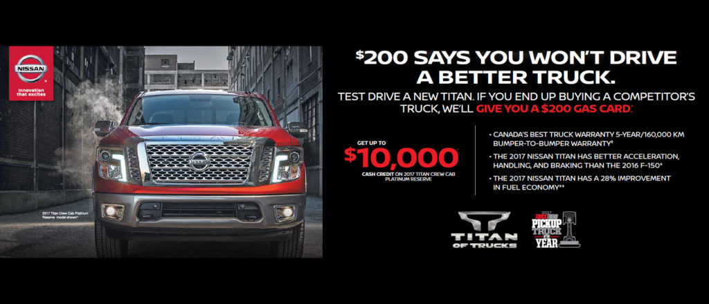 March Nissan Titan offer