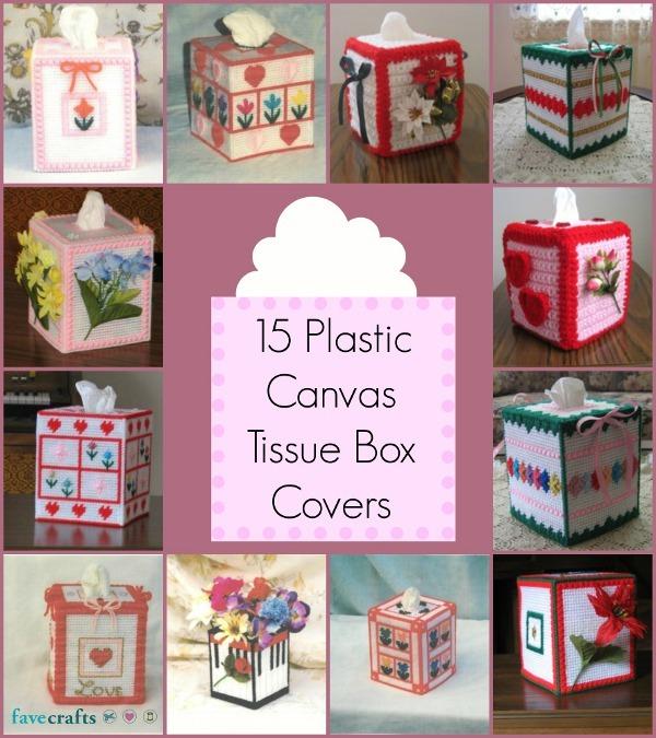 15 Plastic Canvas Tissue Box Covers