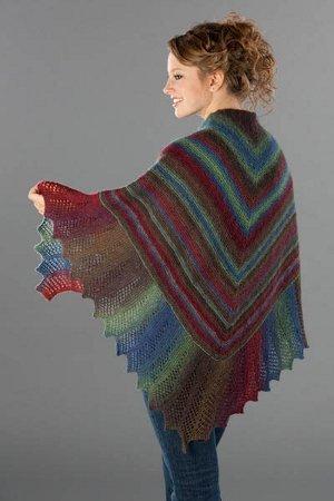 Lace Ediged Garter Stitch Shawl