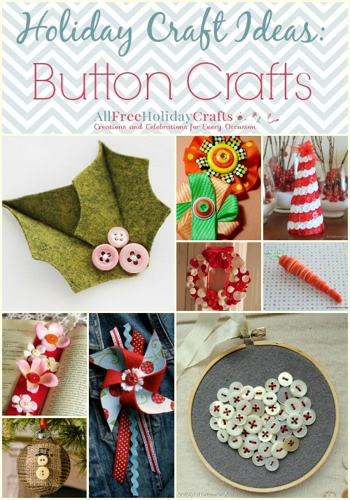 Holiday Craft Ideas 34 Button Crafts