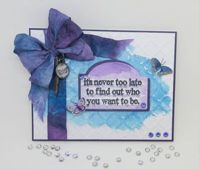 Distress Ink Watercolor DIY Greeting Card