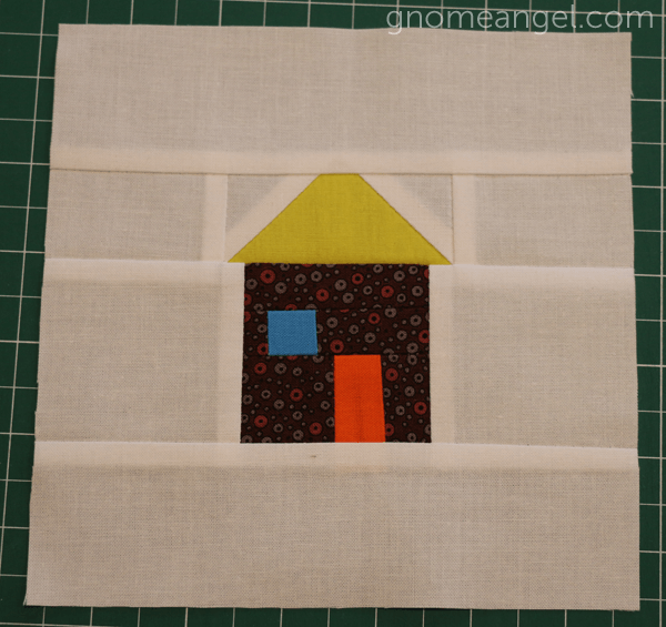 Patchwork House Quilt Block Pattern