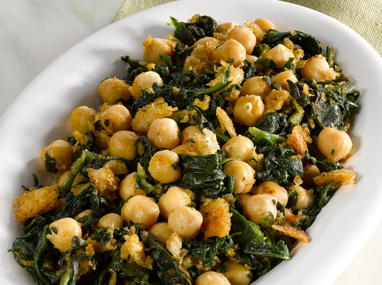 Chickpeas with Spinach   Cookstr com