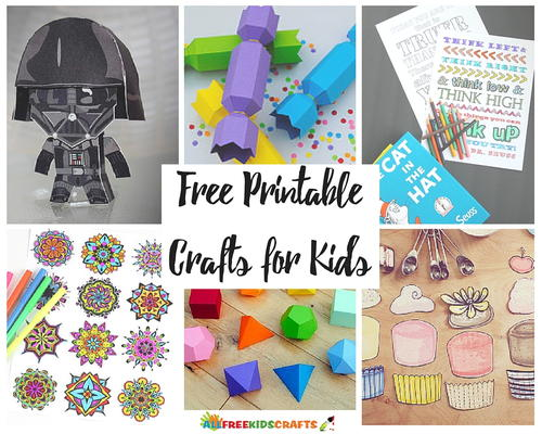 62 Free Printable Crafts for Kids