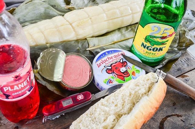 pour un pic-nic presque parfait : manioc et vache qui rit !