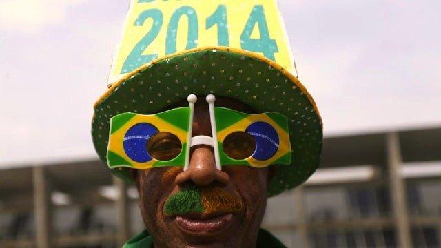 Un des nombreux supporters brésiliens lors de la Coupe du Monde 2014 © Ricardo Moraes/Reuters