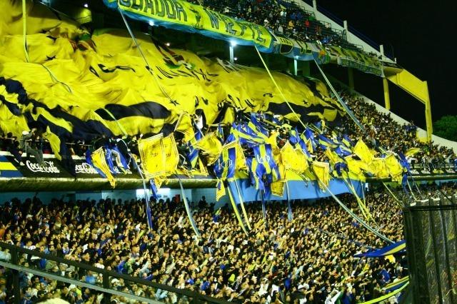 Fans de Boca Juniors à La Bombonera
