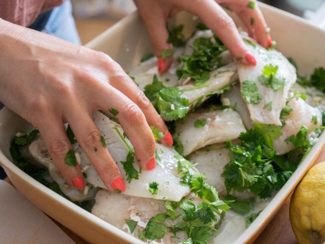 Préparation du poisson