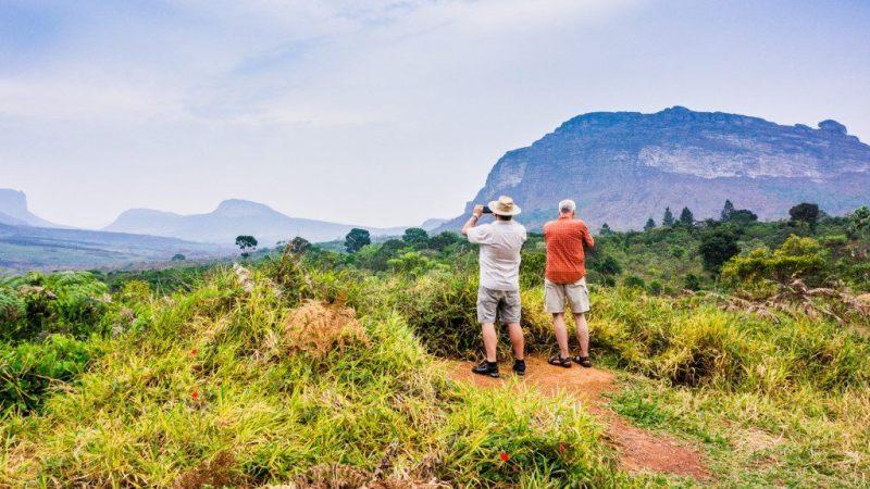 deux touristes à la Chapada Diamantina au Brésil