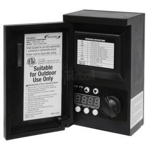 malibu 8100 9045 01 45 watt 12vac outdoor landscape lighting transformer with digital timer and photo eye