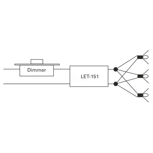 ge lightech let15124 150 watt 24 volt ac electronic encapsulated  rectangle transformer