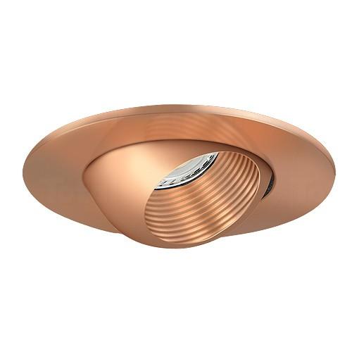 3 low voltage recessed lighting copper baffle copper eyeball trim