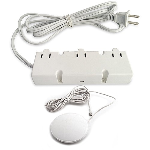 under cabinet dm3 120 wh 200watt 12vac electronic white transformer 3 outlets with tap dimmer 120vac