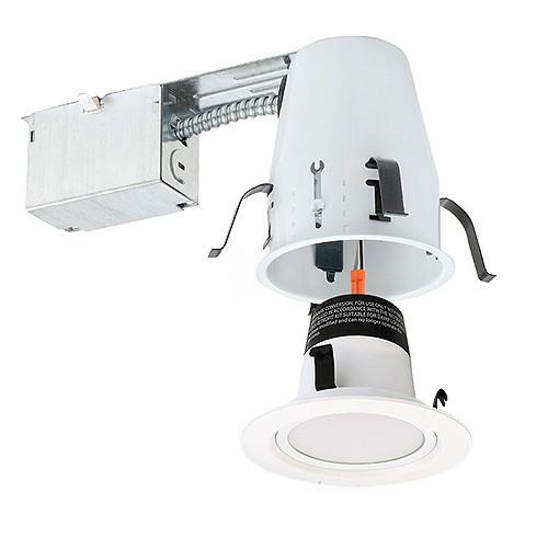 4 led recessed lighting remodel ic air tight 2700k led white trim kit energy star