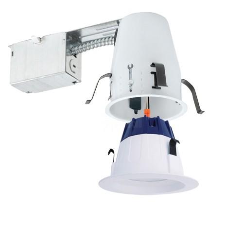 4 led recessed lighting remodel ic air tight 3000k led white trim kit guaranteed fit