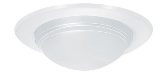 5 recessed lighting metal decorative white diffuse drop lens shower trim