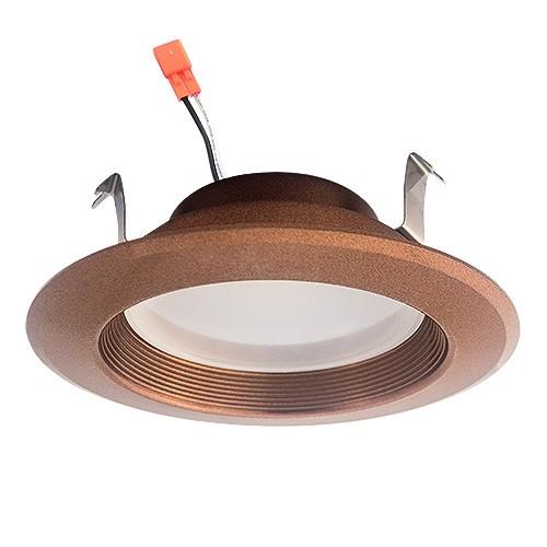4 led recessed lighting 13watt retrofit bronze baffle trim cool white 5000k dimmable