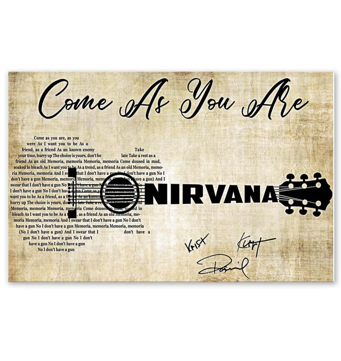 lyric guitar typography signed poster