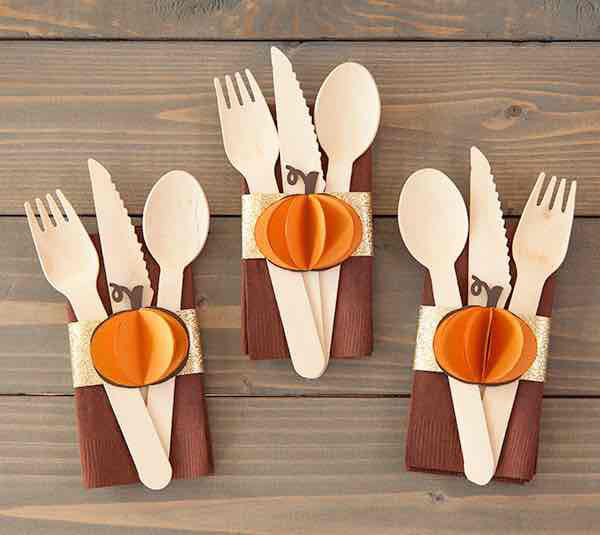 These fall napkin rings are a festive addition to your table