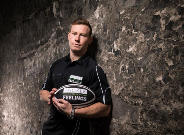 Munster's Cathal Sheridan pictured at the launch of the Tackle Your Feelings campaign.