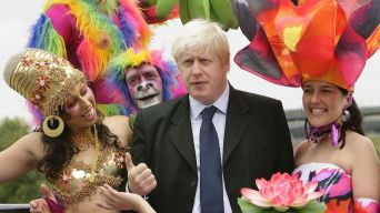 Image result for benny hill boris johnson