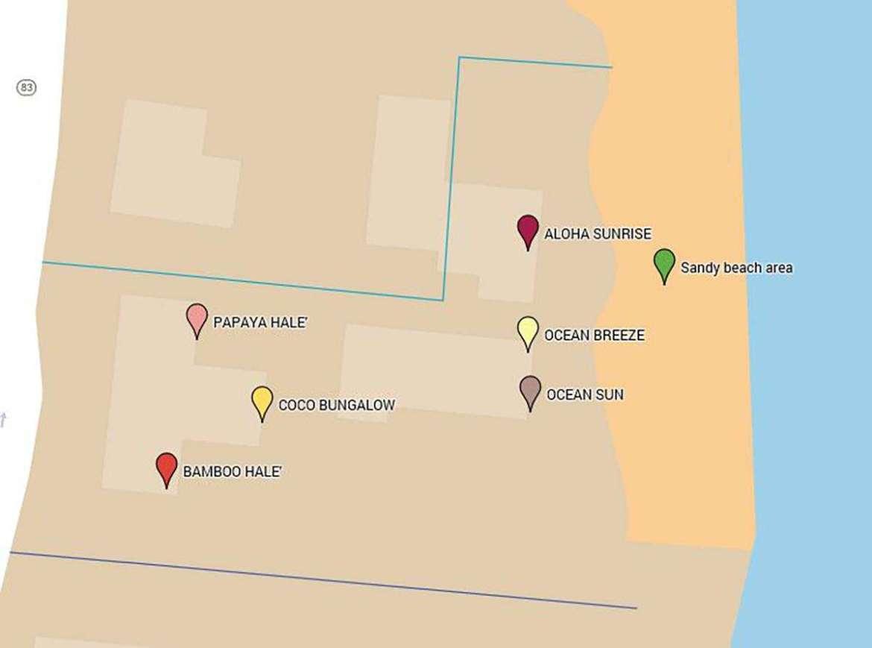 "Google map of Tiki Moon Villas. The ""EVENT 5"" includes all but Aloha Sunrise."