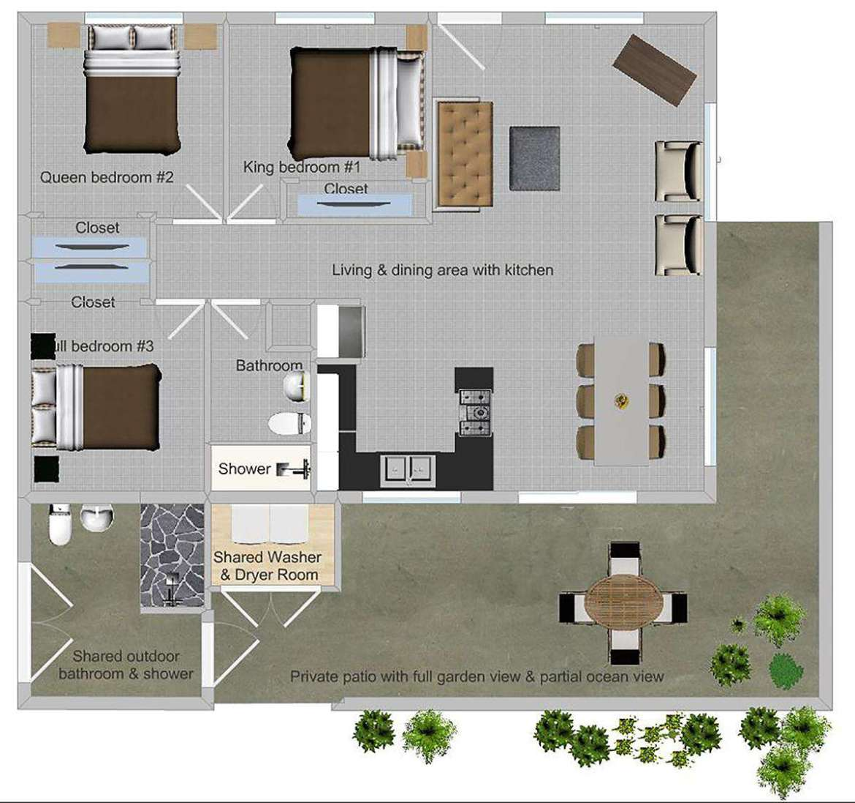 (#5 of 5) Papaya 3: a three bedroom one bath partial ocean view home