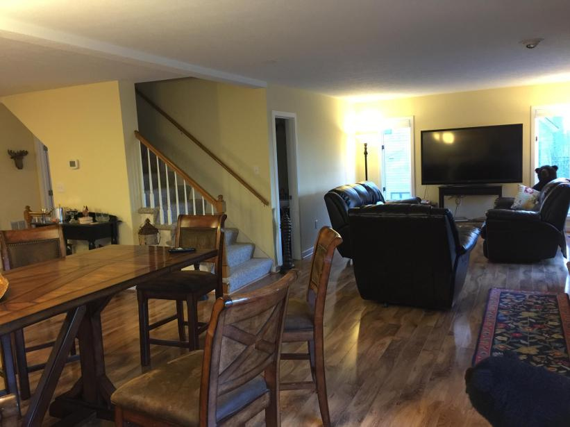 View from dining of living room