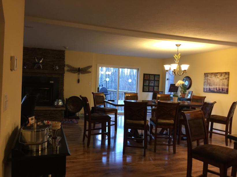 View of dining from entering from mud room