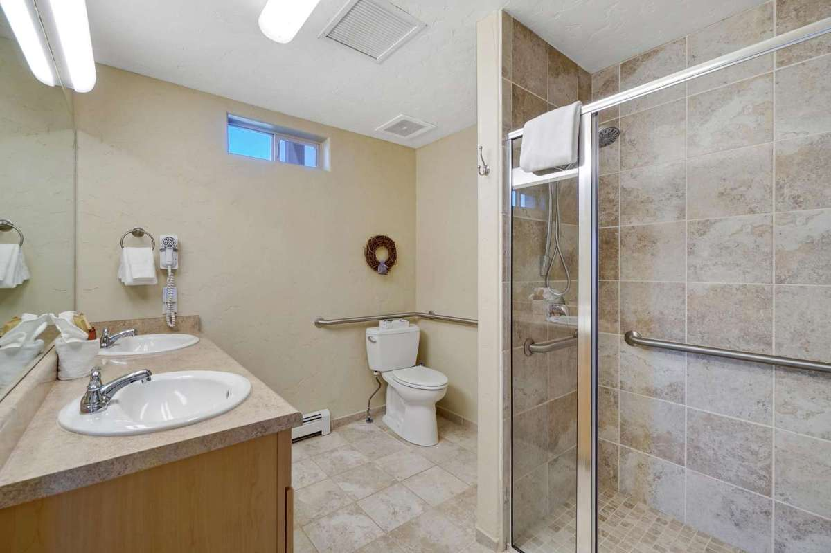 Updated bathroom with all amenities included.