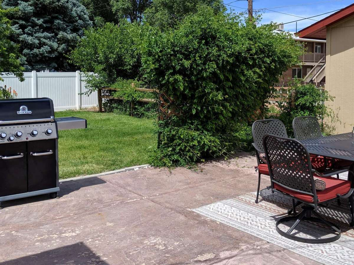 Propane Grill and Seating