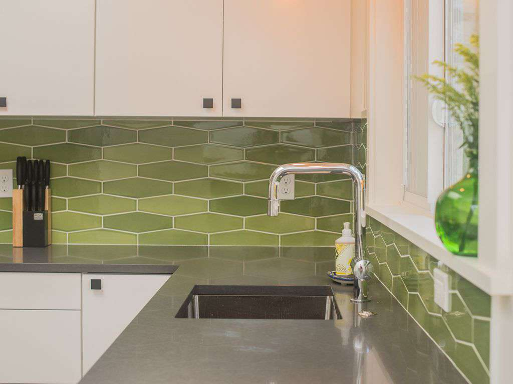 We used many local products, like these Pratt & Larson tiles- handmade in PDX.