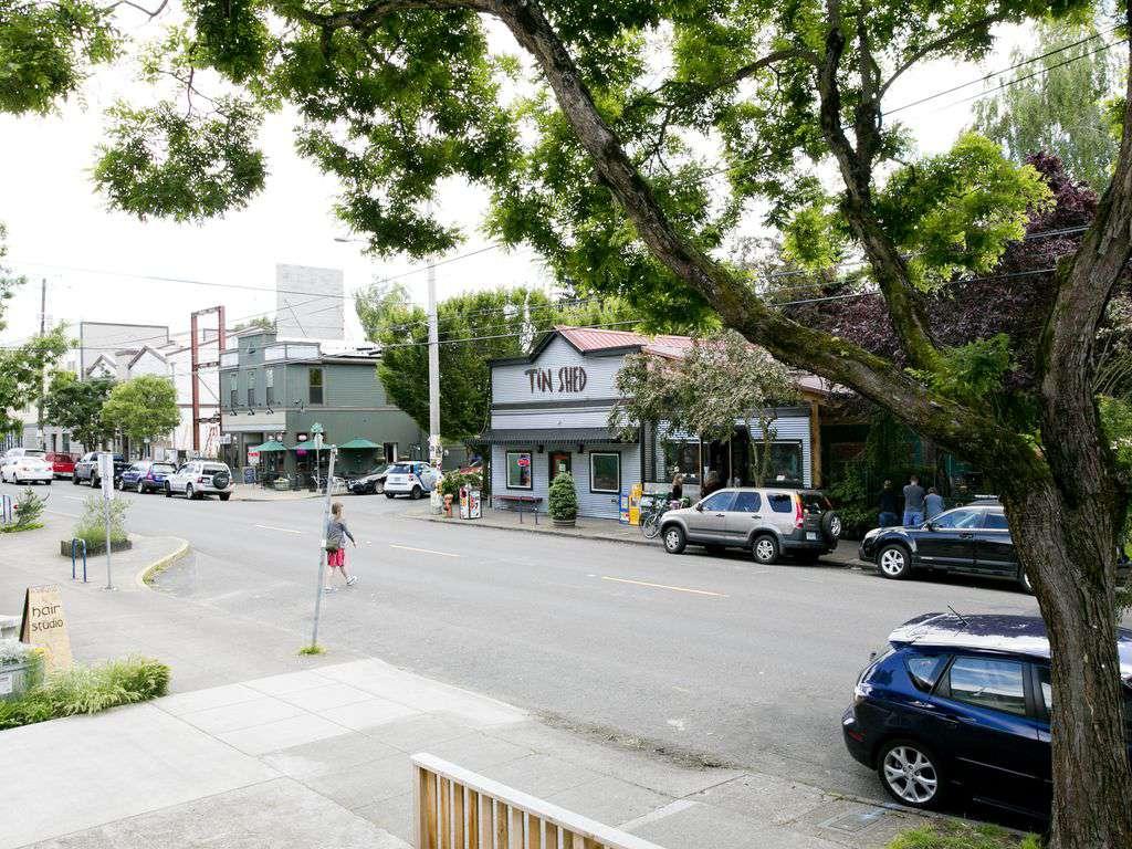 One of Portland's best breakfast spots, TIn Shed, is across the street!