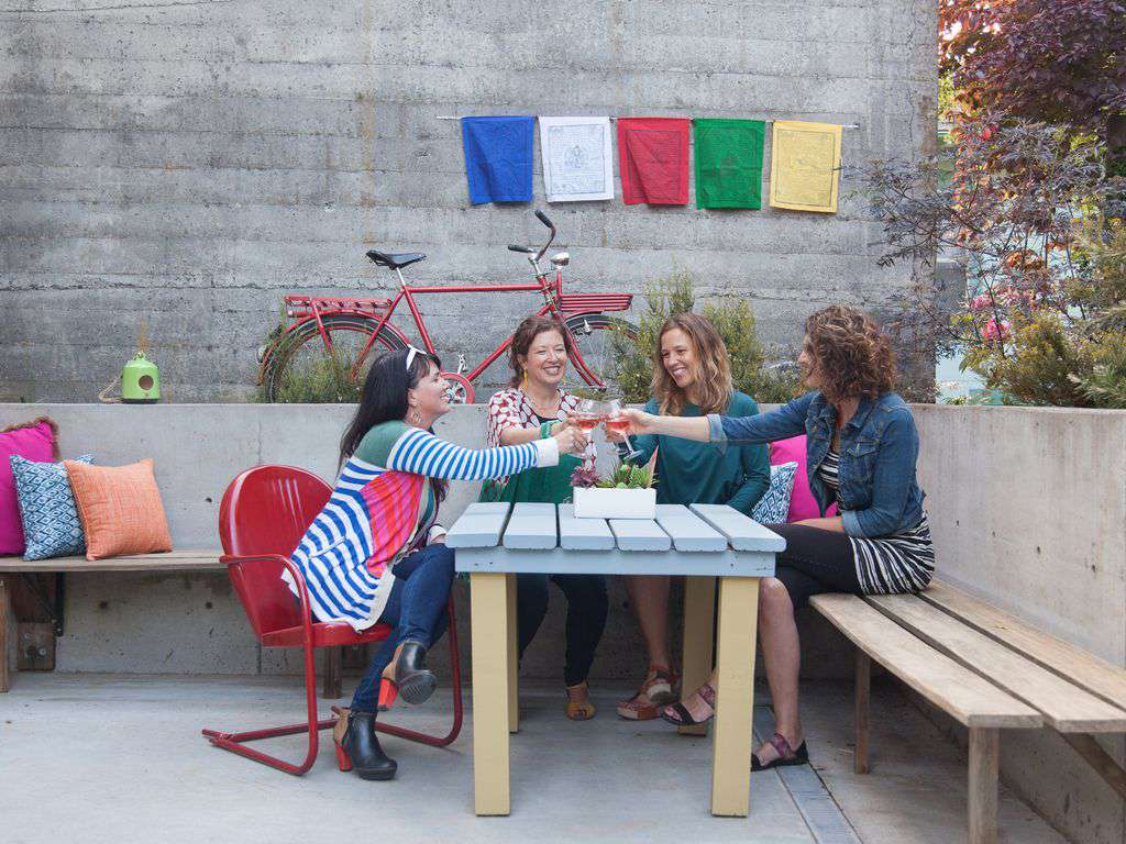 This could be you! Enjoying a glass of wine with your friends- nothing better!