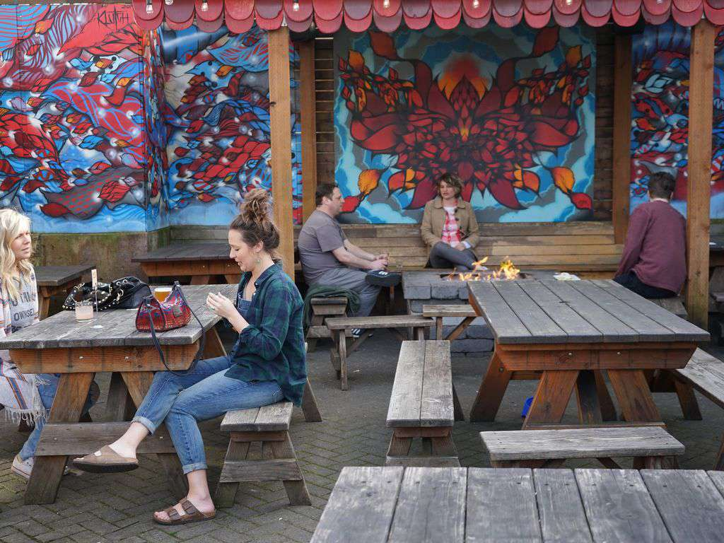 Outdoor patios, funky design, and amazing food pretty much sums up the street.