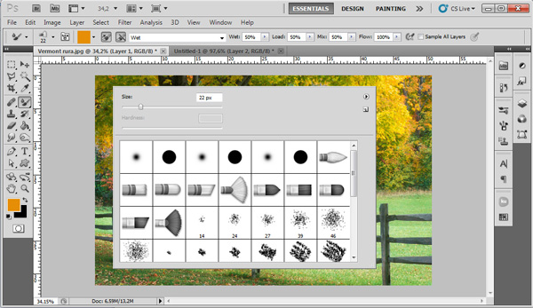 how to turn photoshop brush into vector