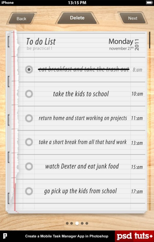 Create a Mobile Task Manager App in Photoshop