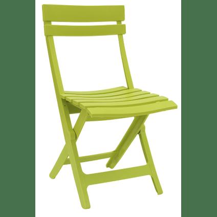 chaise de jardin grosfillex miami pliable resine vert anis