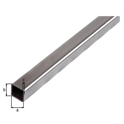 tube carre acier gah alberts gris 2 m x 3 cm