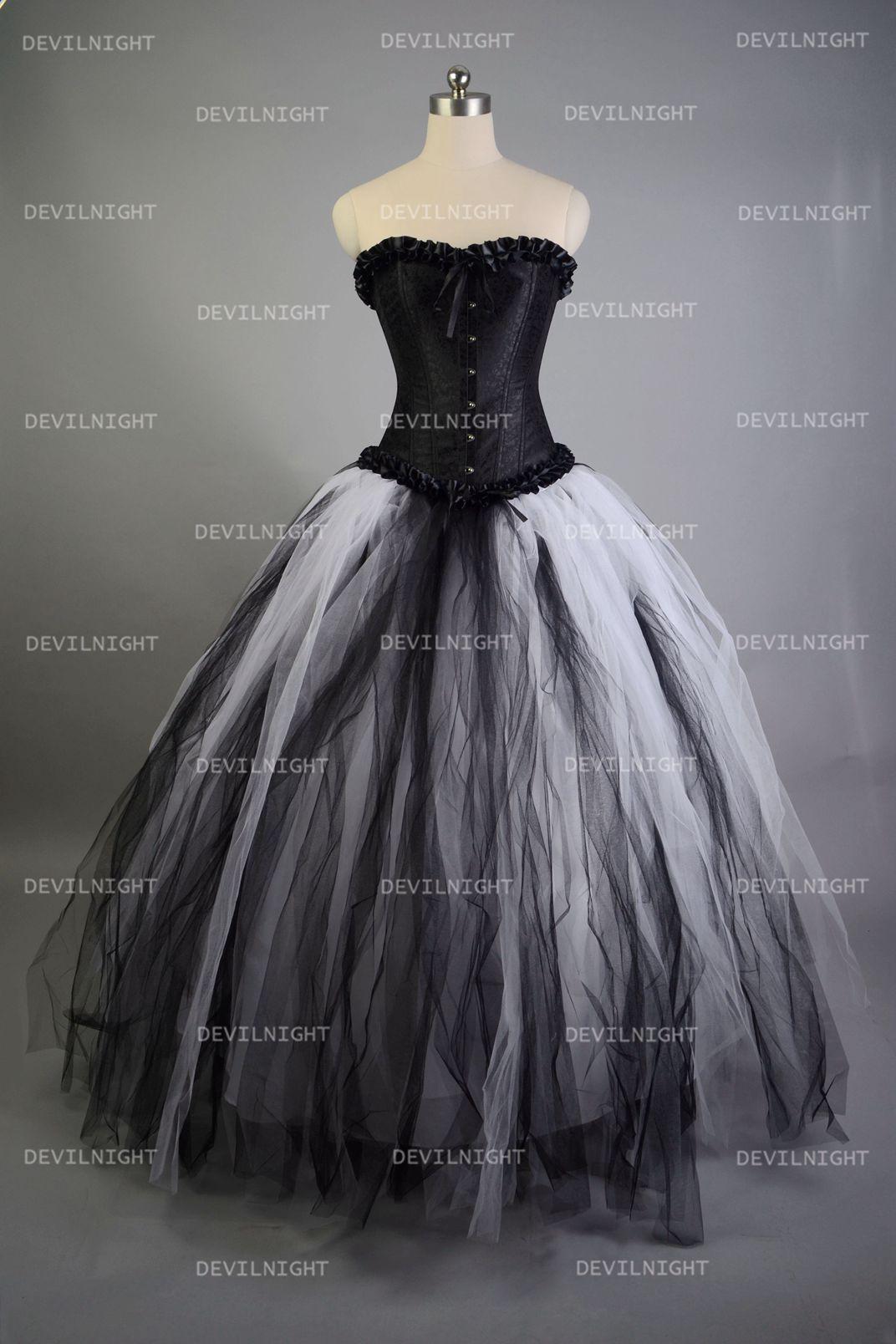 Nightmare Before Christmas Gothic Wedding Dresses