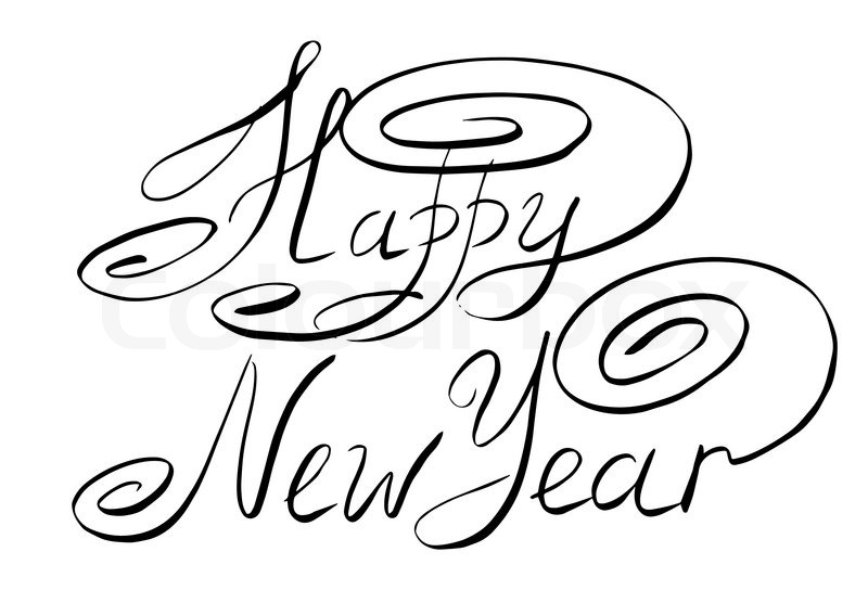 drawing of happy new year