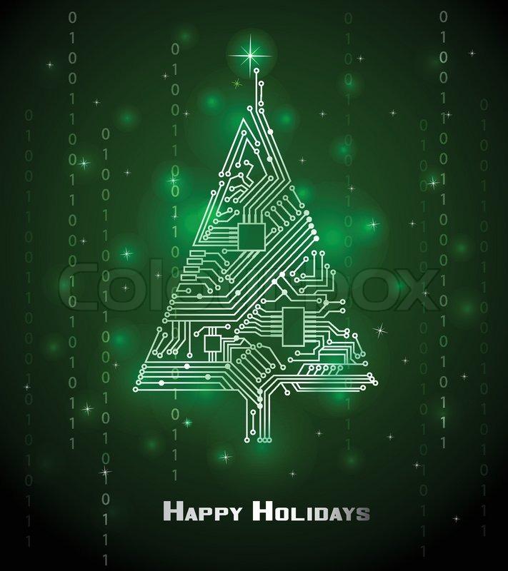 Hi Tech Christmas Tree From A Digital Electronic Circuit