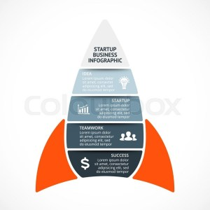 Vector spacesheep infographic Rocket template for growth diagram, graph, presentation and