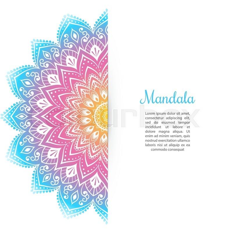 Vector Illustration Of Color Mandala Background Template