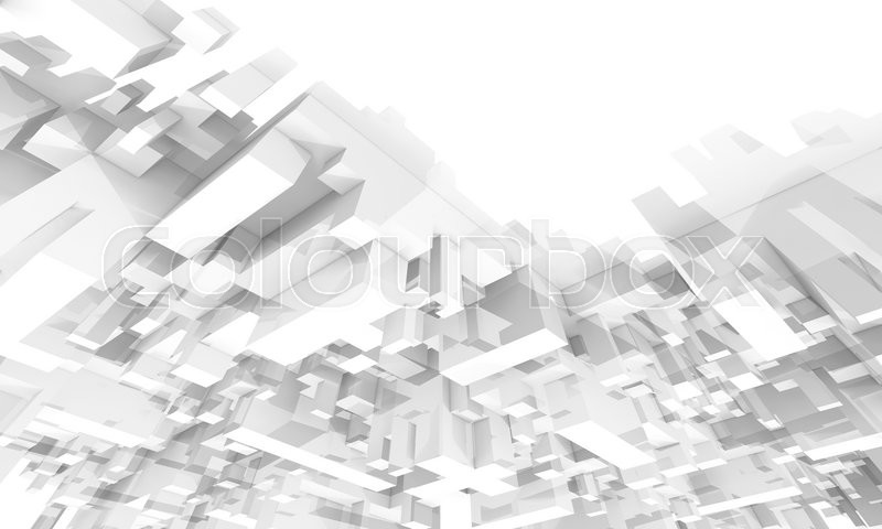 Abstract 3d Geometric Digital Background With Perspective