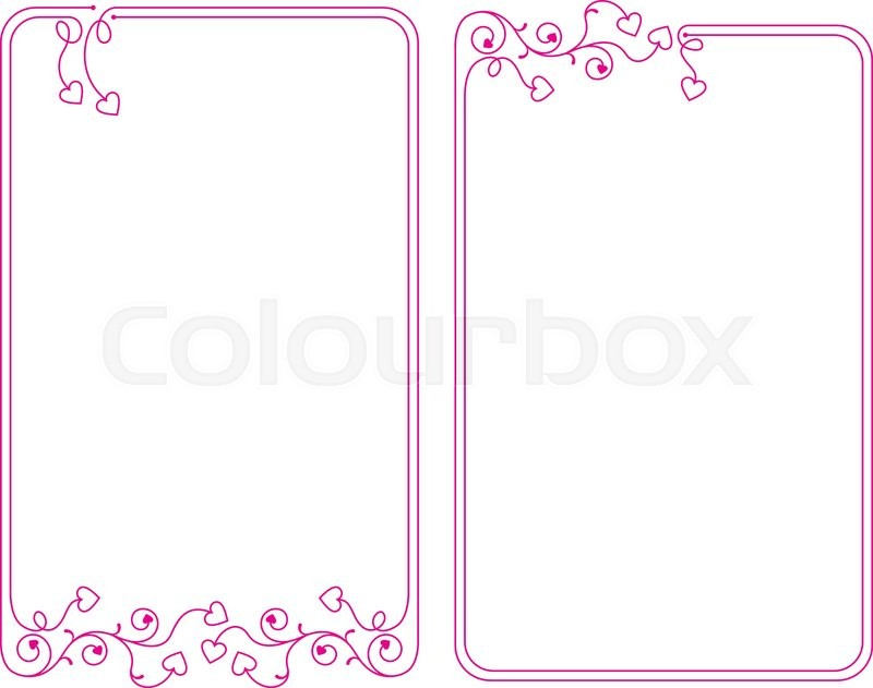 Love Heart Frame Border Design Vector Art Stock Vector
