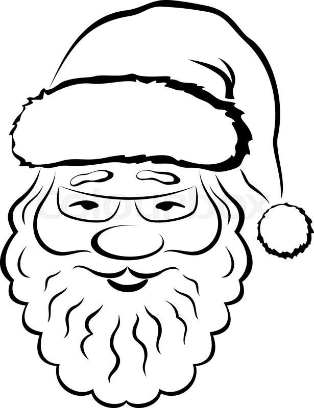 Christmas Symbol Smiling Santa Claus Stock Vector