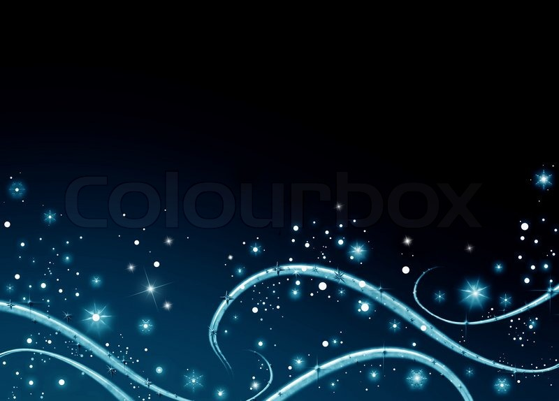Blue Christmas Abstract Background With Snow Snowflake